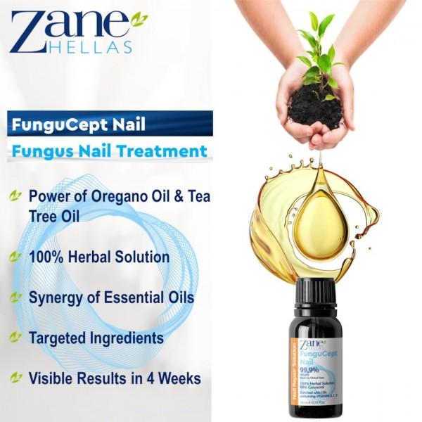 Soluție pentru Tratamentul Ciupercii Unghiilor Zane Hellas FunguCept, 10 ml