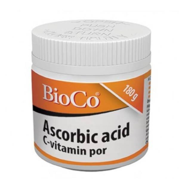 Pulbere de Vitamina C (Acid L-Ascorbic 100%), 600 mg x 300 de Doze, BioCo