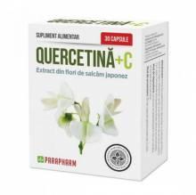 Quercetină + Vitamina C, 30 buc, Parapharm