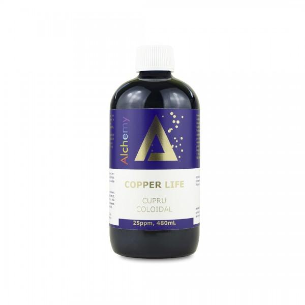 Copper Life, Cupru coloidal, 25ppm, 480 ml, Pure Alchemy