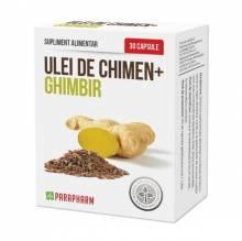 Ulei de Chimen + Ghimbir, 30 buc, Parapharm