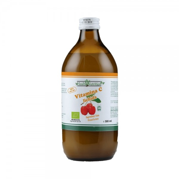 Vitamina C Lichidă Bio, 100% Naturală, 500 ml, Stimulent Imunitar, Antioxidant, Health Nutrition