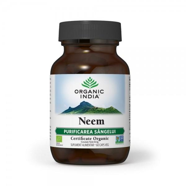 Neem, Antibiotic Natural, 60 buc, Organic India