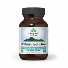 Brahmi Gotu Kola, Creier & Sistem Nervos, 60 buc, Organic India