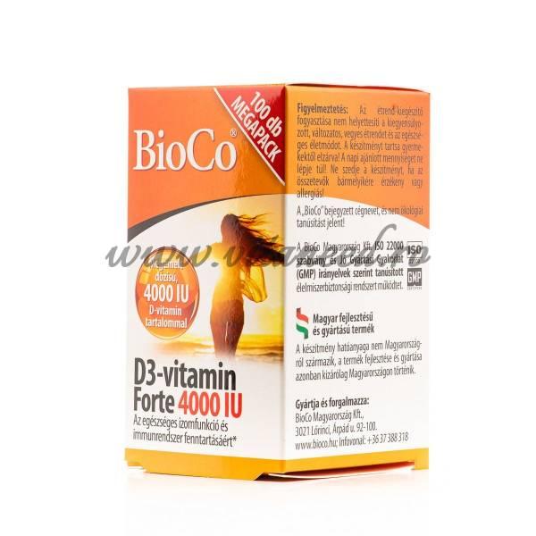Vitamina D3 Forte 4000 UI x 100 buc, Vegetarian, Bioco