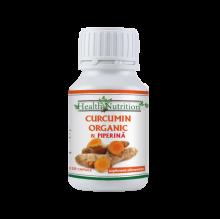 Curcumin Organic + Piperină, 120 buc, Health Nutrition