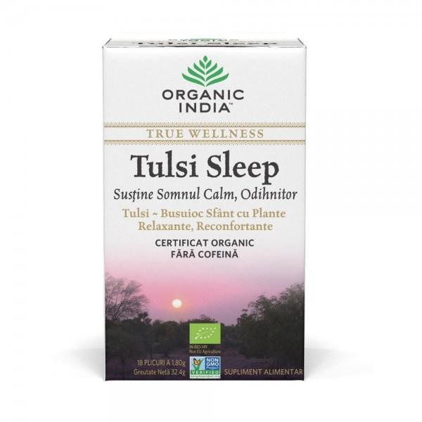 Ceai Tulsi Sleep Pentru Somn Calm, Odihnitor, 18 plic, Organic India