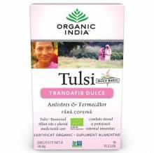 Ceai Tulsi Trandafir Dulce Antistres, 18 plic, Organic India
