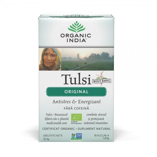 Ceai Tulsi Original, 18 plic, Organic India