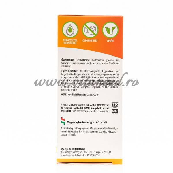 Vitamina C Hidrosolubilă, 1000 mg x 120 Doze, BioCo, Fără zahăr, Vegetarian