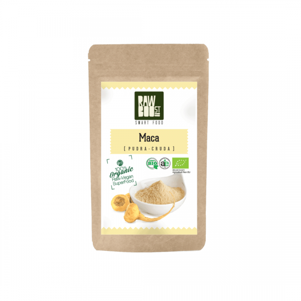 Maca Pudra Organică, Stimulent al Fertilității, Reglator Hormonal, Rawboost 125g