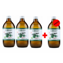 Pachet 3+1 Gratuit - Suc Bio 100% Natural de Aloe Vera, 4 x 500 ml, Health Nutrition