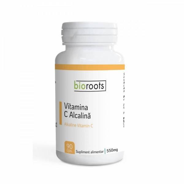 Vitamina C Alcalină, 700 mg x 90 buc, Bioroots