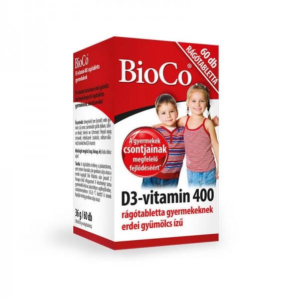 Vitamina D3 400 UI X 60 buc, Comprimate Masticabile, BioCo